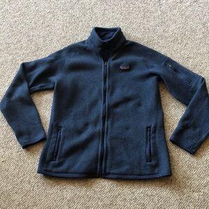 Patagonia blue zip up front jacket size Large